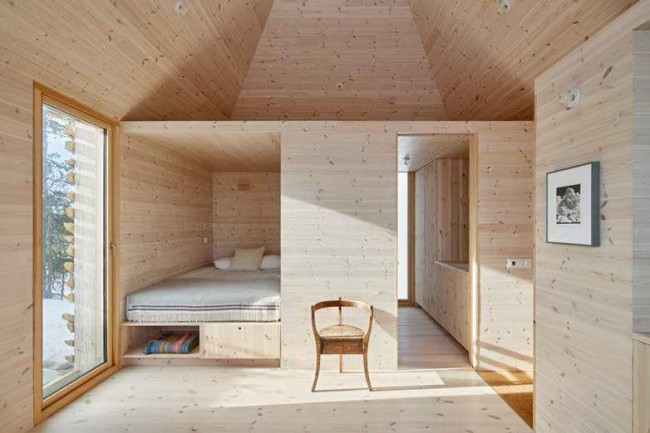 спальный лофт в гостевой пристройке