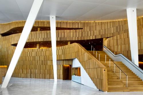 интерьер оперного театра в Норвегии