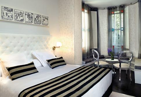 екстильный дизайн - убранство кровати в гостинице  Hospes Villa Paulita