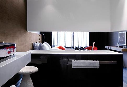 интерьер гостиничного номера, отель Carbon, Genk, Бельгия, дизайн PCP Architects, Великобритания