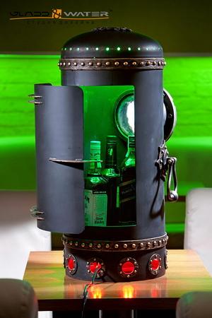 мини-бар с бутылками, автор идеи, проектирование - Вячеслав Переверзев