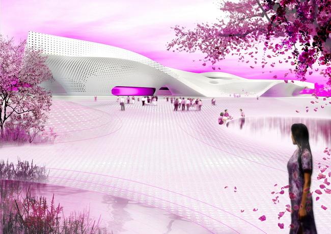 комплекс в Тайване, архитектурное проектирование Mecanoo