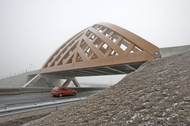 дорожный мост в городе Sneek, Голландия, архитектурное проектирование - onix