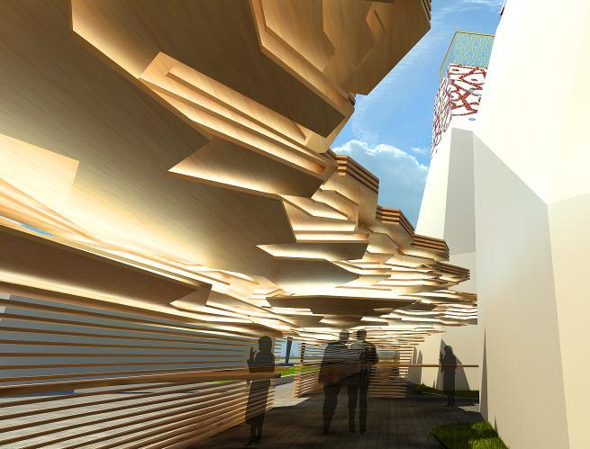павильон Росии на выставке в Шанхае, фрагмент
