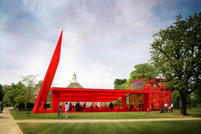 проект павильона Serpentine Gallery, Designed by Jean Nouvel  Ateliers Jean Nouvel