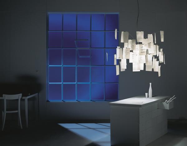 инсталляция с бумажным светильником, Инго Маурер