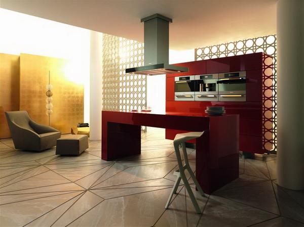 дизайнерская линия Fire от Miele в интерьере кухни