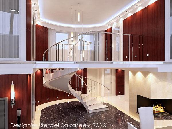 лестница, ведущая на второй уровень квартиры
