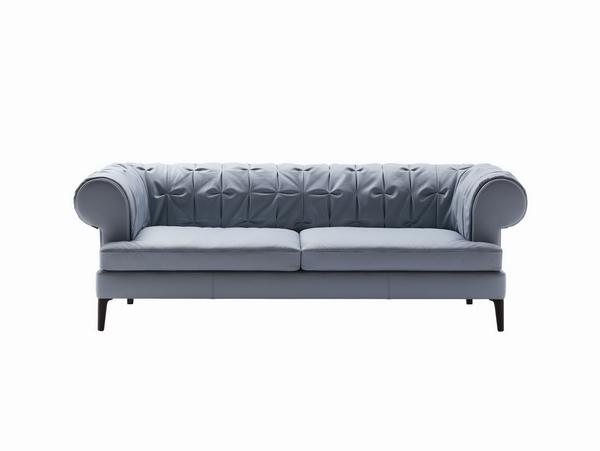 диван Манто с кожаной обивкой, Poltrona Frau