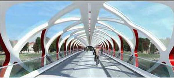 Вид на мост с велодорожкой, рендер копирайт The City of Calgary