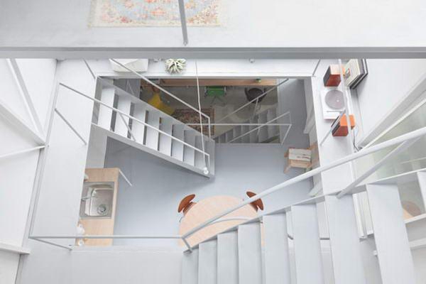 вид сверху на интерьер дома