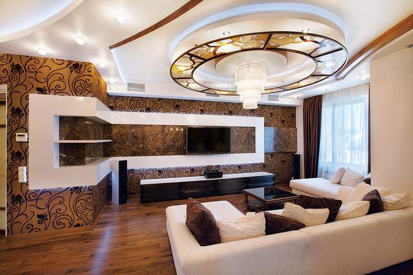 зона отдыха с телевизором в гостиной