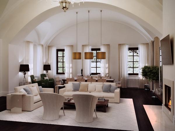 в гостиной сохранены конструкции 19 века