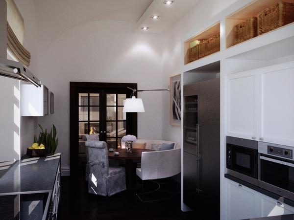 кухня, примыкающая к гостиной