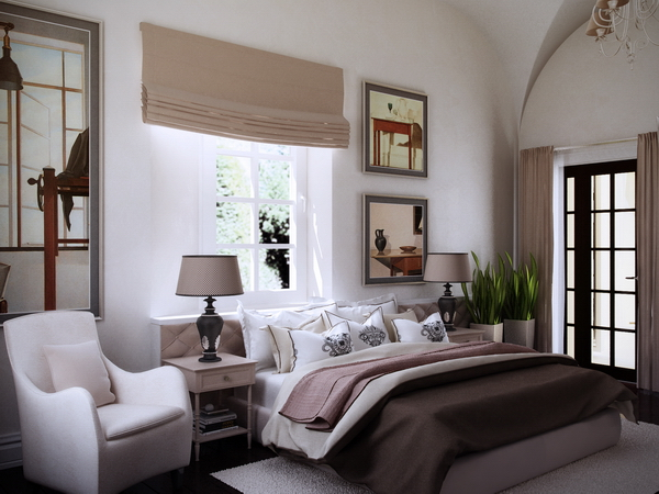 спальня в историческом особняке