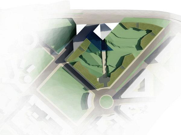 перепланировка участка для гостиничного комплекса, конкурсное предложение, архитектор Варданян