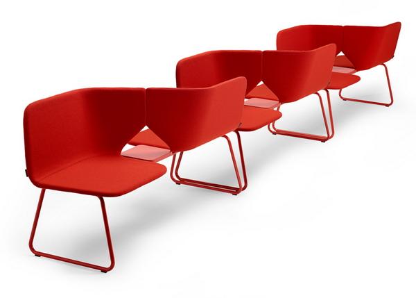 модульные кресла для общественных помещений Studio Twin Beam