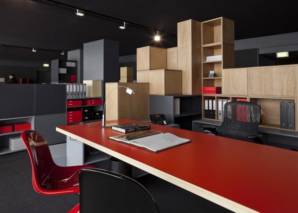 интерьер офиса, инсталляция Нувеля в Милане