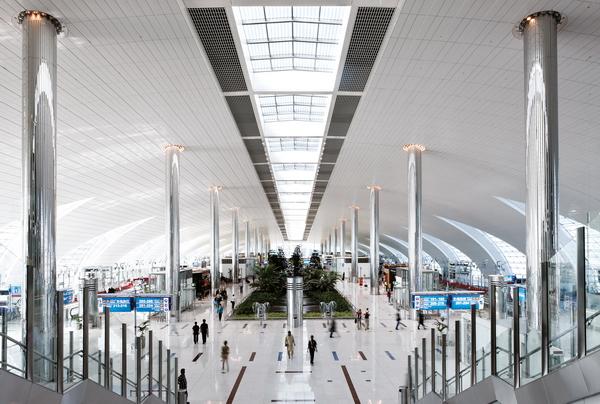 зал аэропорта в Дубаи, архитектурная мастерская ADPI ADP INTERNATIONAL