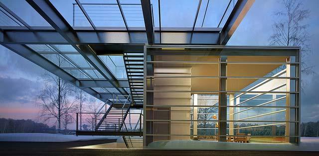 интерьер нового павильона, пристроенного к зданию музея