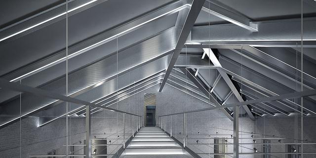 интерьер музея с внутренней галереей