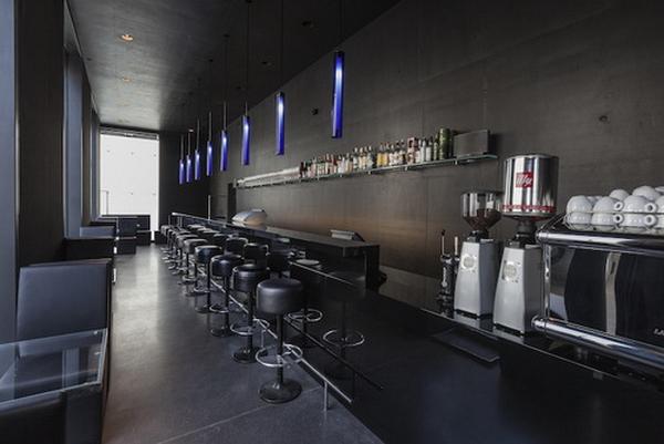 интерьер кафе Kunsthaus, дизайн Петера Цумтора, 2013 г.