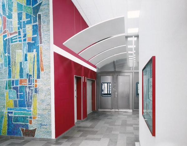 потолки Optima Canopy в коридорах фонда Mayor Reuter, Германия.
