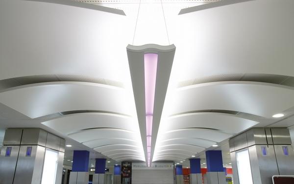 потолки Orcal Canopy в интерьере аэропорта в Ницце