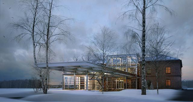 обновленное здание школы, перспектива