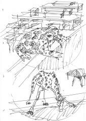эскиз, ручная графика Eduardo Souto de Moura