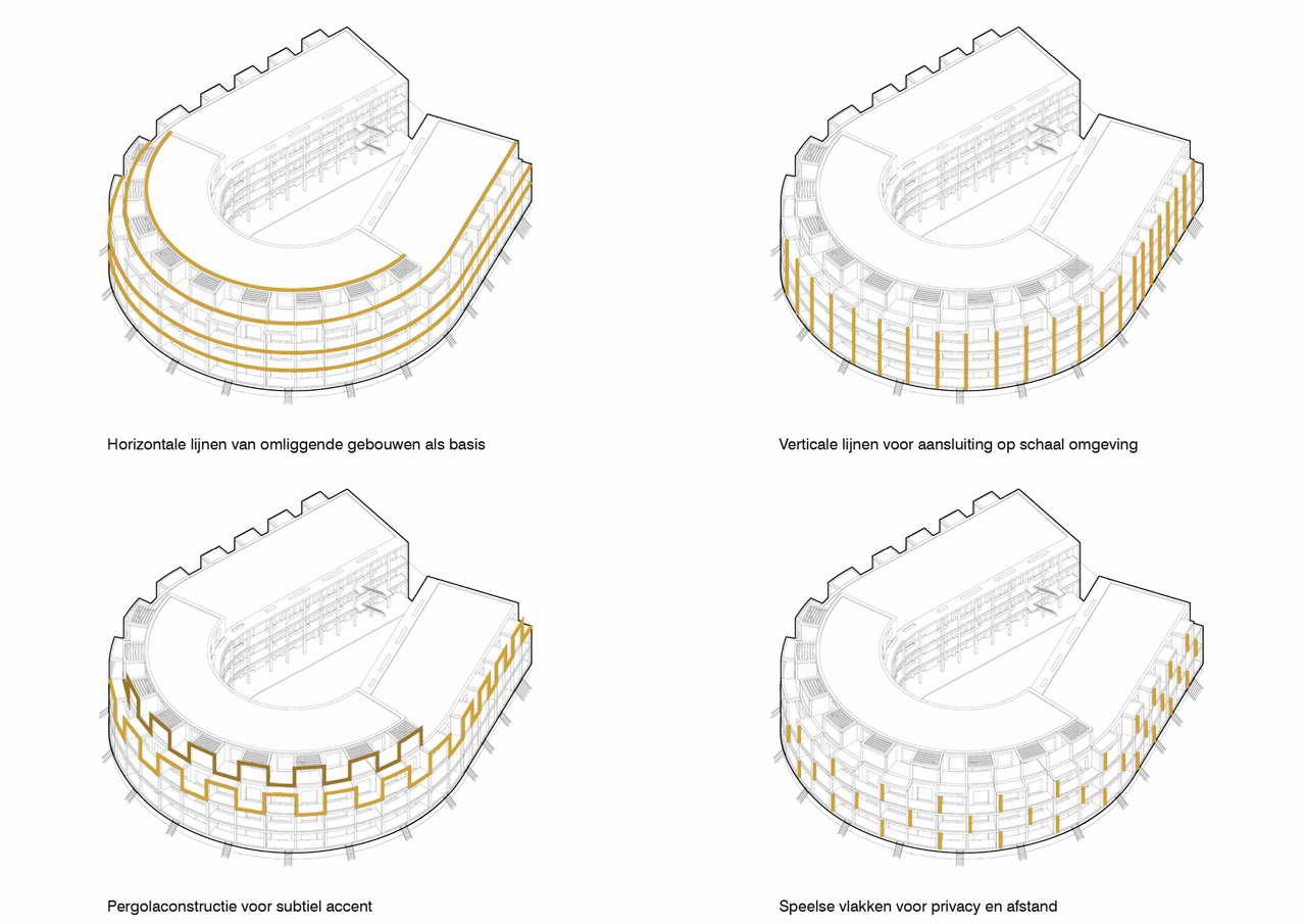 схема фасадов дома Root