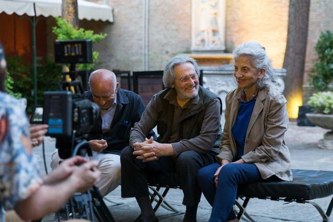 Giovanni Cutolo,Tobia Scarpa и Valeria Salvador на фестивале