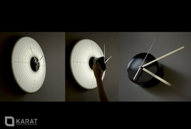 luna - часы из акрилового камня с подсветкой