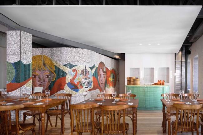 интерьер ресторана «Хачапури и вино», 2 этаж