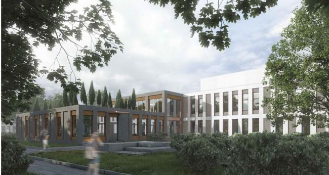 проект больницы, 1 место (240 коек)