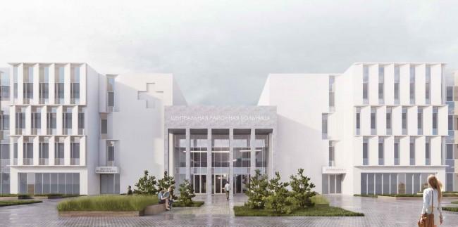проект больницы, 2-е место (240 коек)