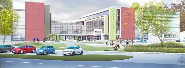проект больницы, 1 место (400 коек)