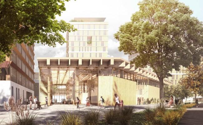 здание в общественно-деловом квартале, проект Adjaye Associates