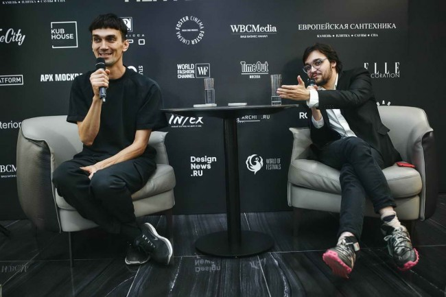 Егор Беликов и Андрей Будько на кинофестивале дизайна