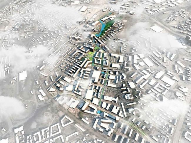 аксонометрия, план с рекой Ховин