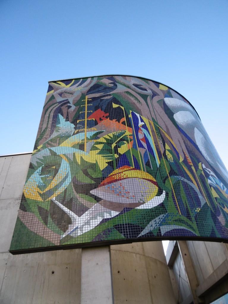 фрагмент отреставрированной мозаики в Эрфурте
