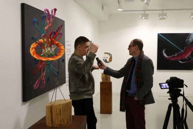 интервью с Тавасиевым на выставке