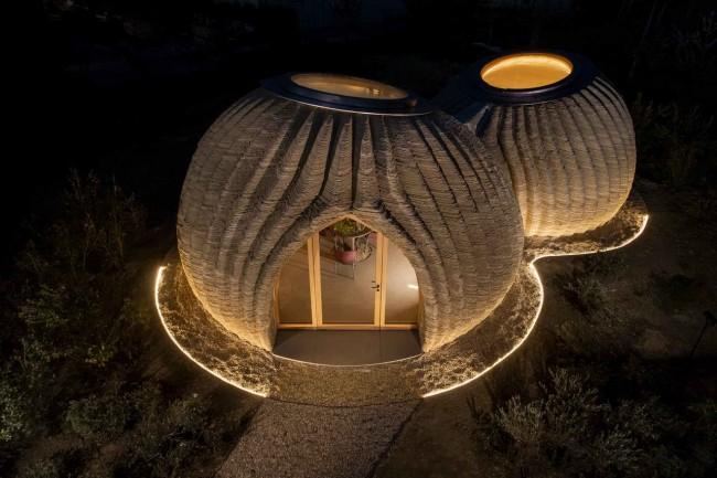 3D дом вечером