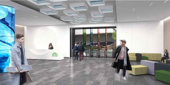 интерьер холла в новом здании НТВ