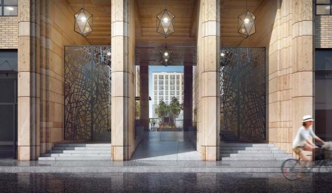 архитектурные детали, портал в Ligovsky City