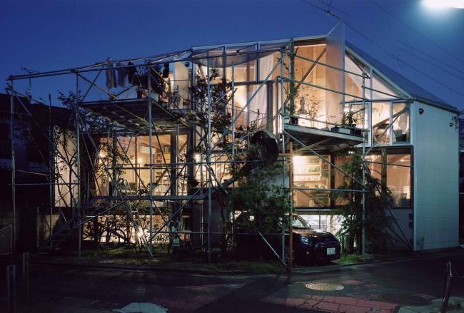 Дом Suzuko Yamada, вечерний вид