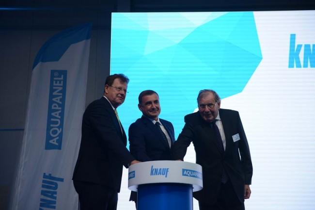 губернатор Дюмин на открытии завода Knauf