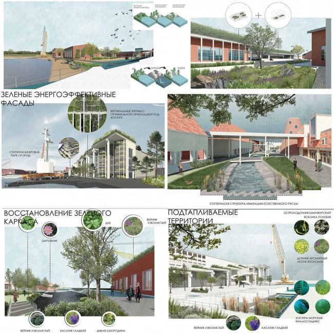 зелёные фасады и каркас