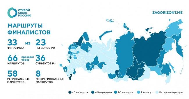 инфографика: финалисты и маршруты