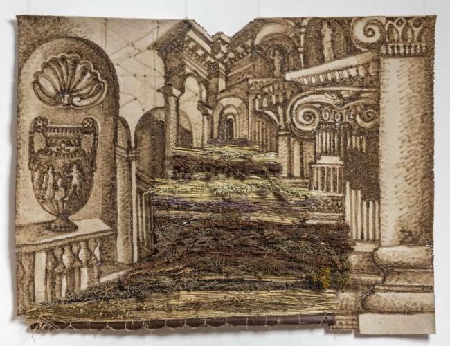гобелен с античной архитектурой, Вера Занегина